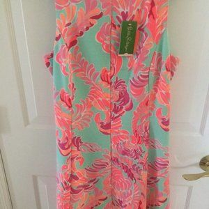 Lilly Pulitzer Cove Dress Love Birds Poolside Blue